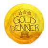 Gold Denner Badge